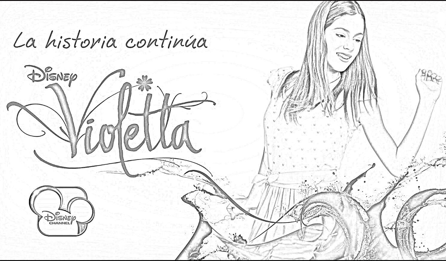 Disney Violetta Coloring Pages